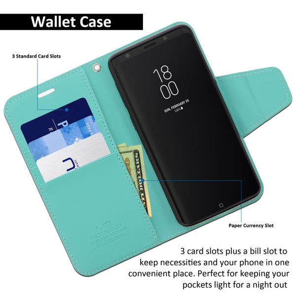 Galaxy S9 Case Classic Diary Wallet Cover - ModeBlu