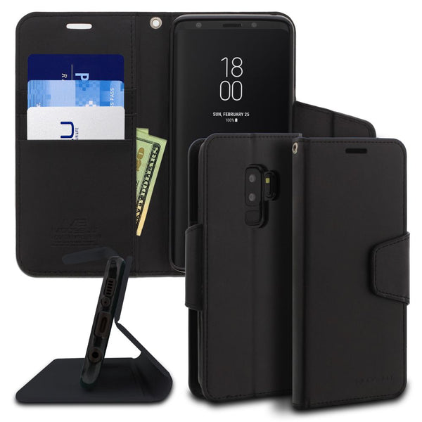 Galaxy S9 Plus Case Classic Diary Wallet Cover - ModeBlu