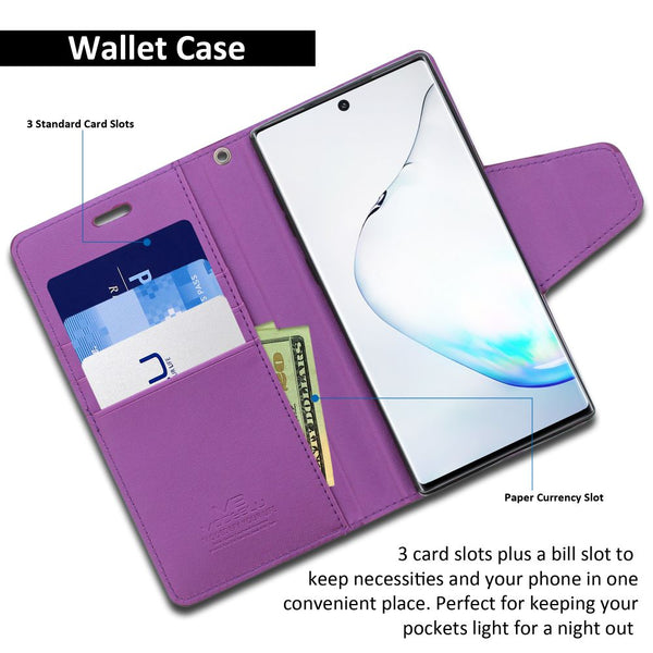Galaxy Note 10 Case Classic Diary Wallet Cover - ModeBlu