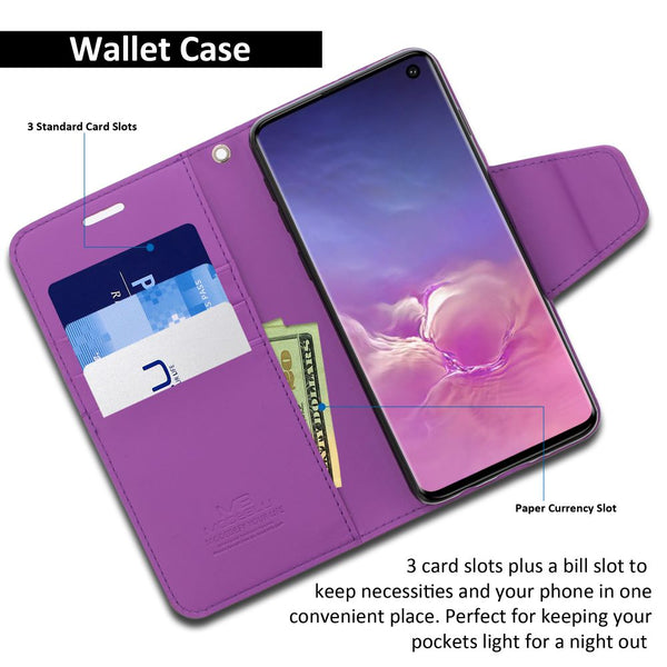 Galaxy S10 Case Classic Diary Wallet Cover - ModeBlu