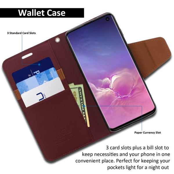 Galaxy S10e Essential Case Classic Diary Wallet Cover - ModeBlu