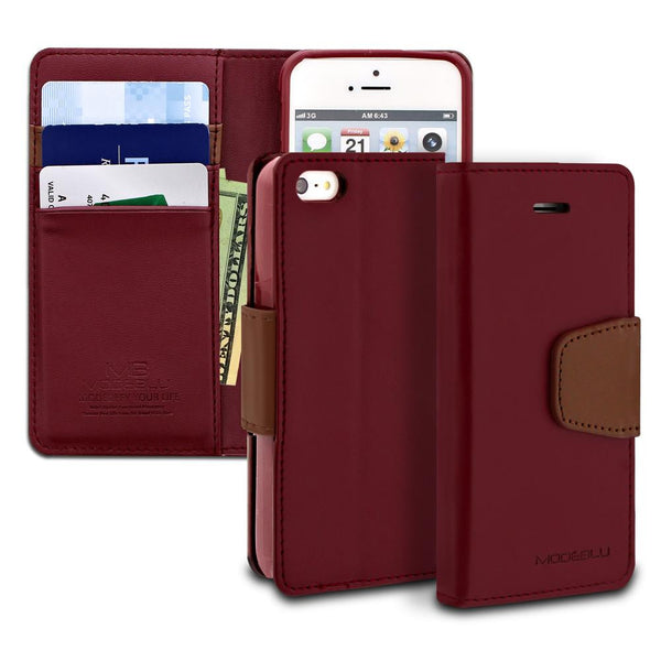 iPhone SE 5s 5 Case Classic Diary Wallet Cover - ModeBlu