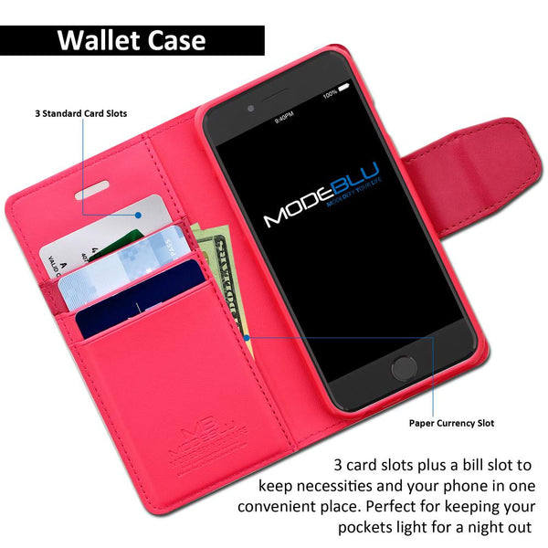 iPhone 8 Case Classic Diary Wallet Cover - ModeBlu