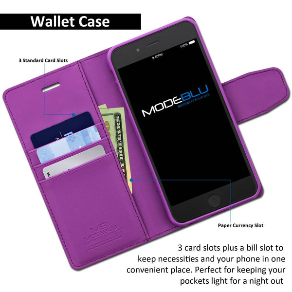 iPhone 8 Plus Case Classic Diary Wallet Cover - ModeBlu