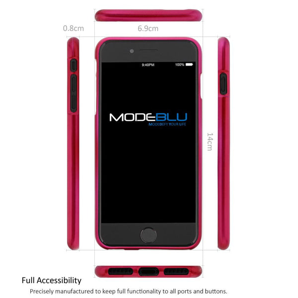 iPhone 7 Case M-Gel Metallic TPU Gel Series Cover - ModeBlu