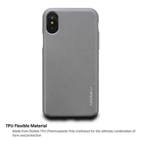 iPhone XS & X Case M-Gel Metallic TPU Gel Series Cover - ModeBlu