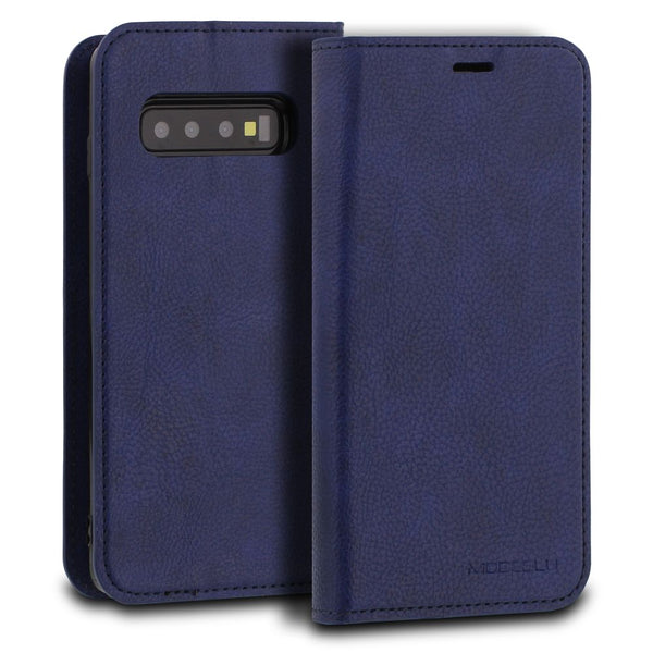 Galaxy S10 Case Magnetic Portfolio Series Wallet - ModeBlu