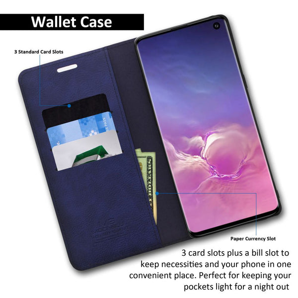 Galaxy S10e Essential Case Magnetic Portfolio Series Wallet - ModeBlu