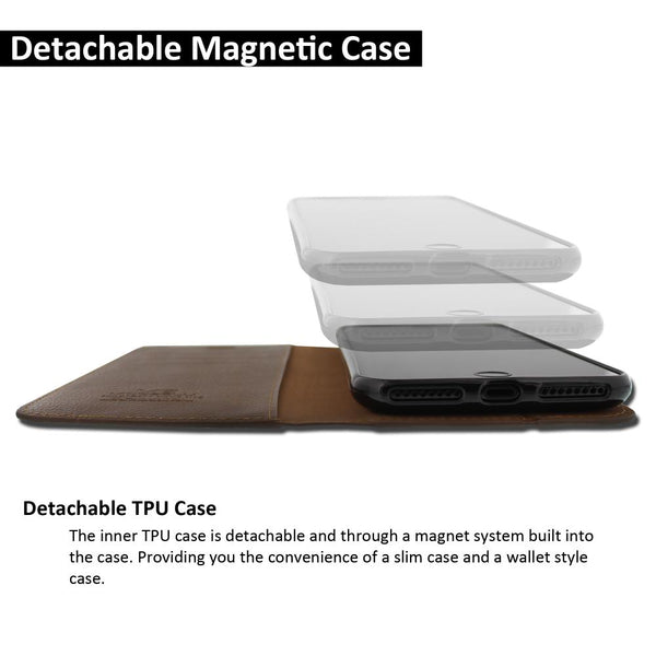 iPhone XS & X Case Magnetic Portfolio Series Wallet - ModeBlu