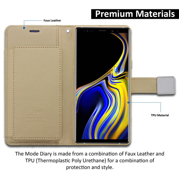 Galaxy Note 9 Case Mode Diary Wallet Cover - ModeBlu