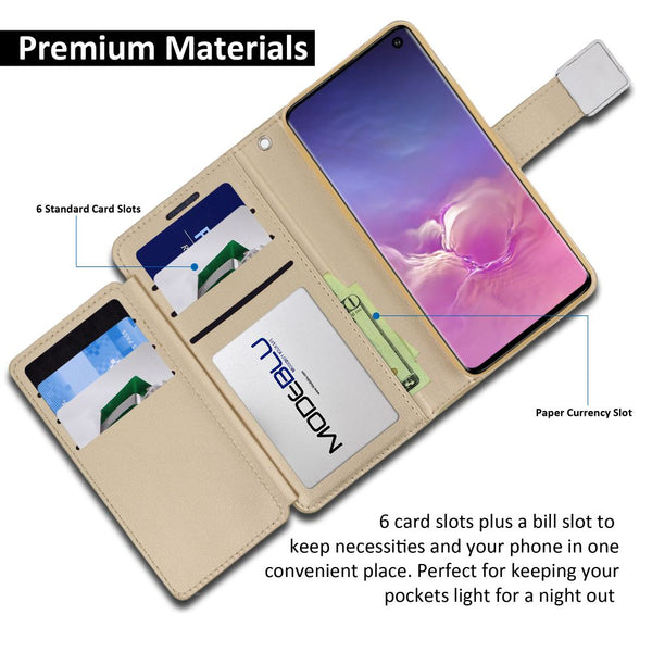 Galaxy S10 Case Mode Diary Wallet Cover - ModeBlu