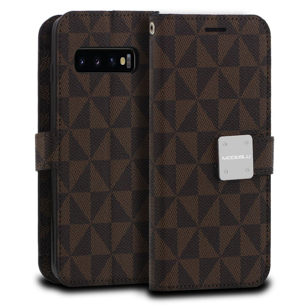 Galaxy S10 Plus Case Mode Diary Pattern Series Wallet Cover - ModeBlu