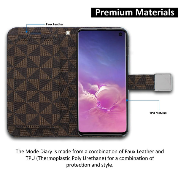 Galaxy S10e Essential Case Mode Diary Pattern Series Wallet Cover - ModeBlu