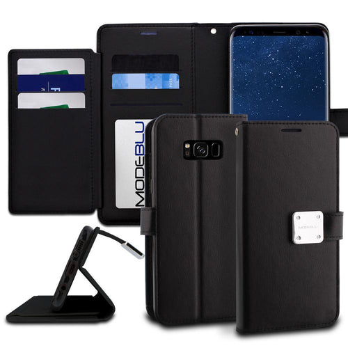 Galaxy S8 Plus Case Mode Diary Wallet Cover - ModeBlu