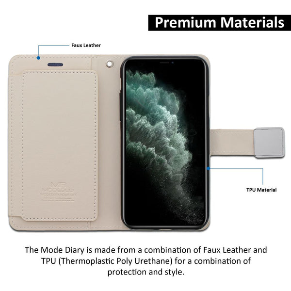 iPhone 11 Pro Max Case Mode Diary Wallet Cover - ModeBlu