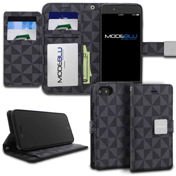 iPhone 8 Case Mode Diary Pattern Series Wallet Cover - ModeBlu