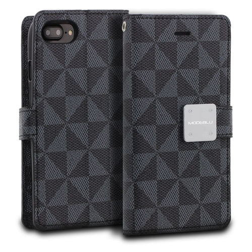 iPhone 8 Plus Case Mode Diary Pattern Series Wallet Cover - ModeBlu