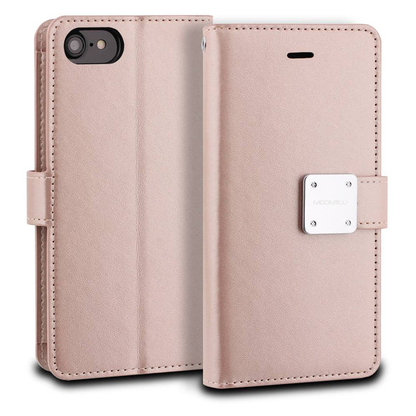 iPhone 7 Case Mode Diary Wallet Cover - ModeBlu