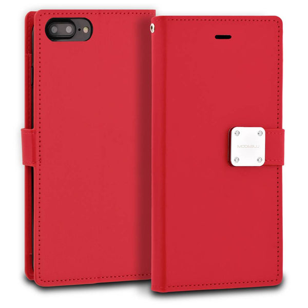 iPhone 7 Plus Case Mode Diary Wallet Cover - ModeBlu