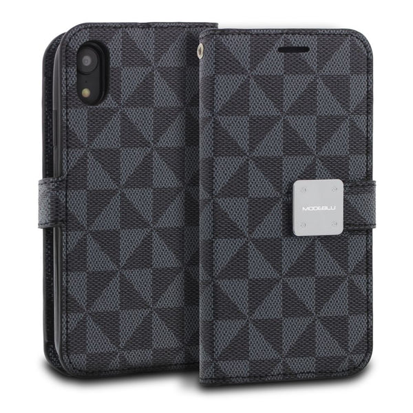 iPhone XR Case Mode Diary Pattern Series Wallet Cover - ModeBlu