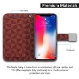 iPhone XS & X Case Mode Diary Pattern Series Wallet Cover - ModeBlu