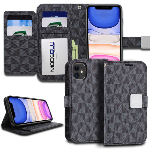 iPhone 11 Case Mode Diary Pattern Series Wallet Cover - ModeBlu