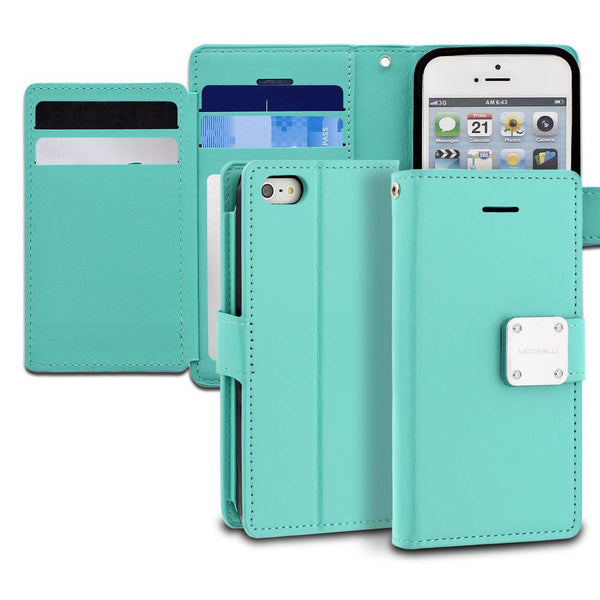 iPhone SE 5s 5 Case Mode Diary Wallet Cover - ModeBlu