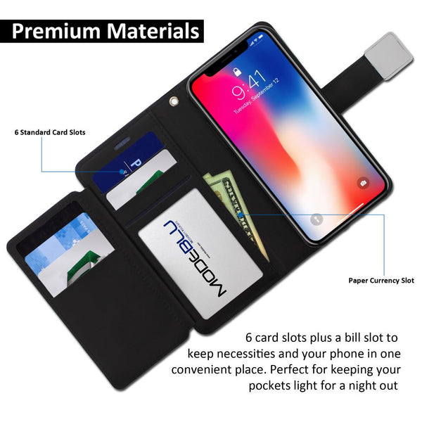 iPhone XS & X Case Mode Diary Wallet Cover - ModeBlu