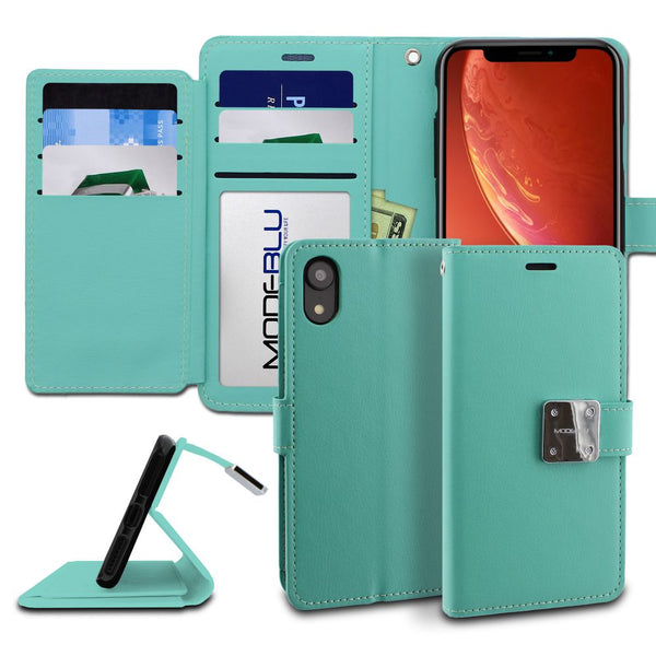 iPhone XR Case Mode Diary Wallet Cover - ModeBlu