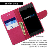 iPhone 7 Plus Case Pocket Diary Canvas Wallet Cover - ModeBlu
