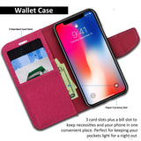 iPhone XS & X Case Pocket Diary Canvas Wallet Cover - ModeBlu