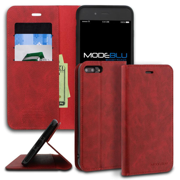 iPhone 8 Plus Case Magnetic Portfolio Series Wallet - ModeBlu