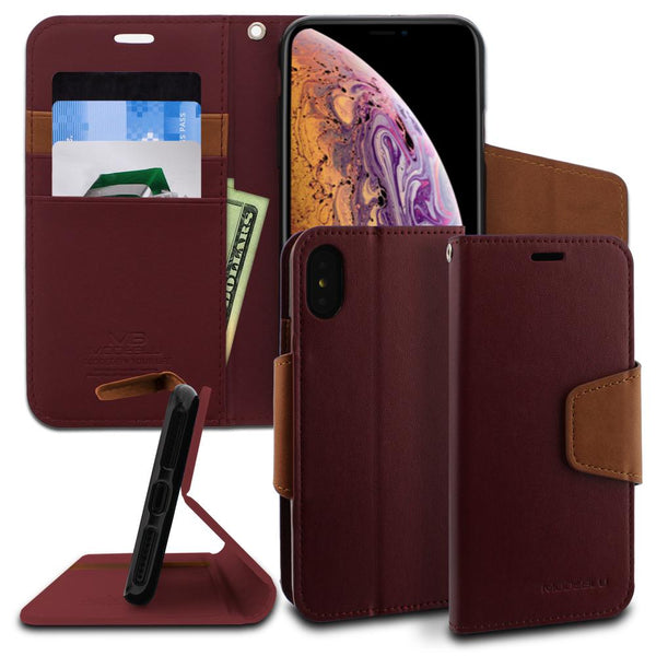 iPhone XS Max Case Classic Diary Wallet Cover - ModeBlu