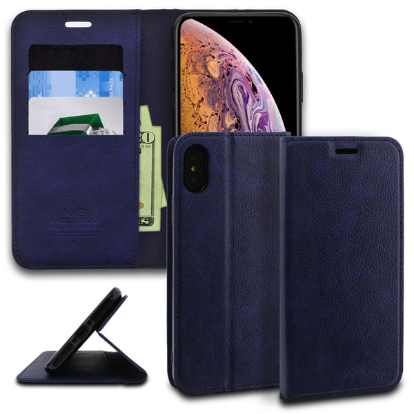 iPhone XS Max Case Magnetic Portfolio Series Wallet - ModeBlu