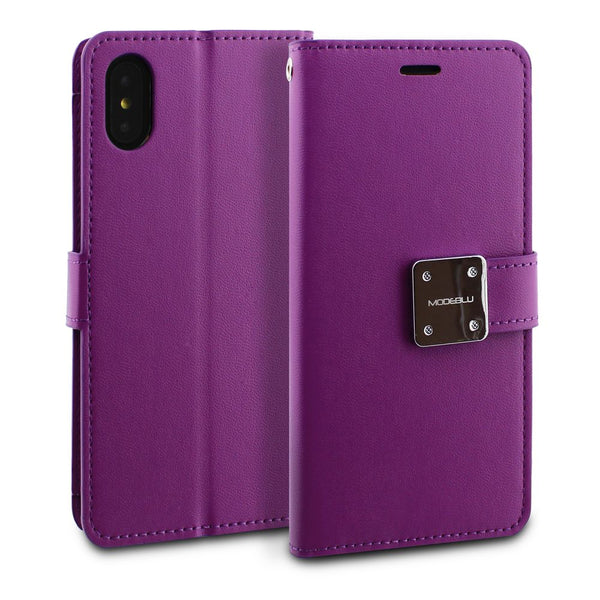 iPhone XS Max Case Mode Diary Wallet Cover - ModeBlu
