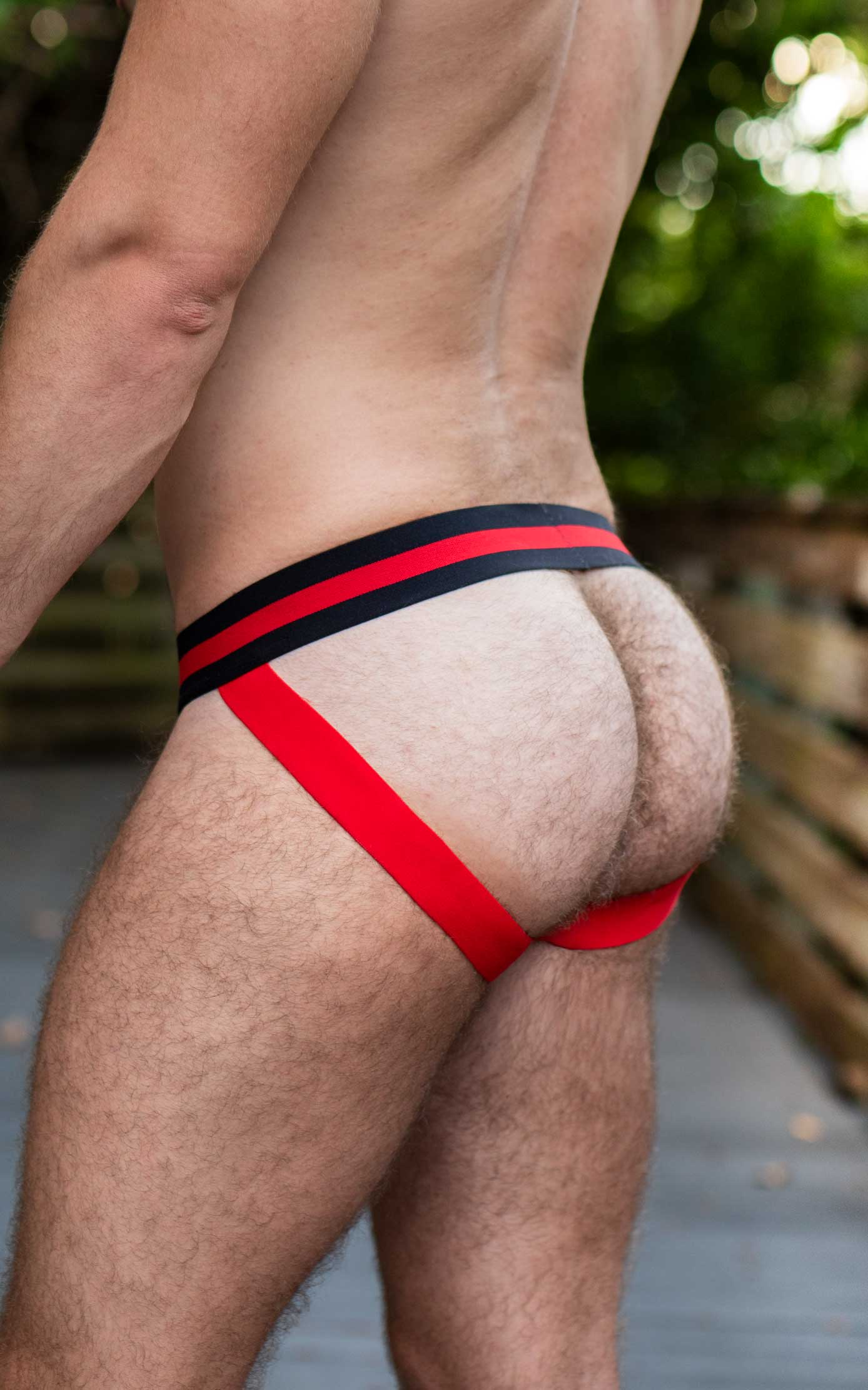 Gruff Pup Impulse Jock - Red/Black