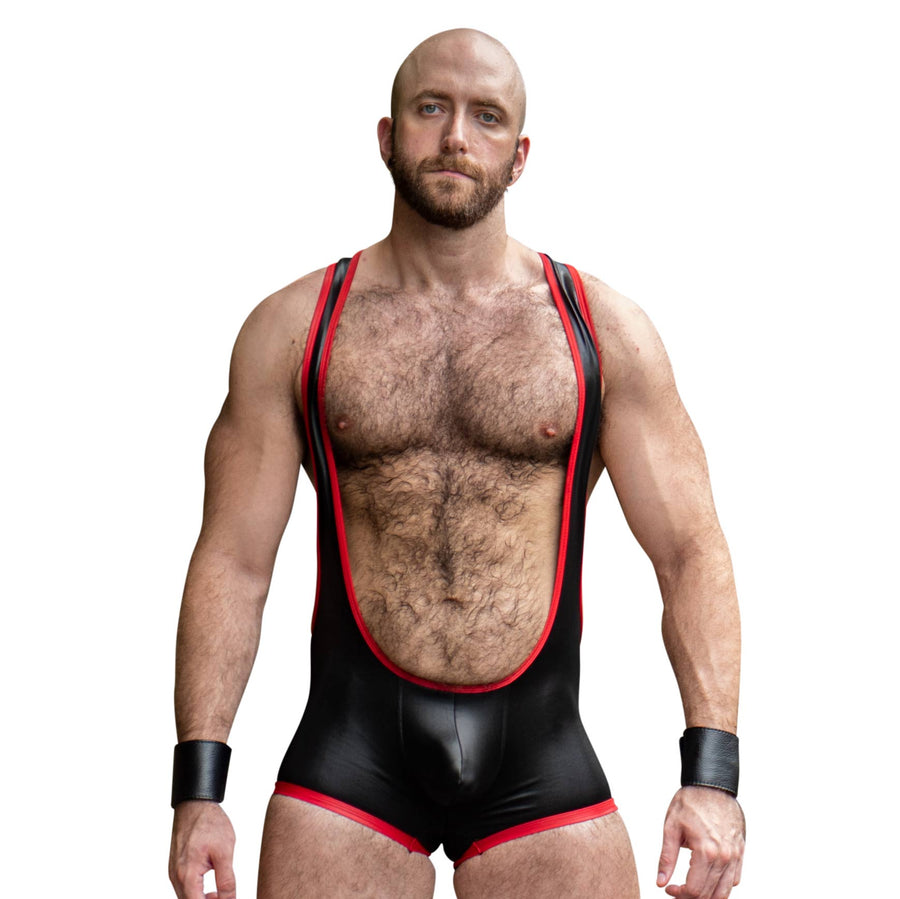 Impulse Singlet - Black/Red - Assless