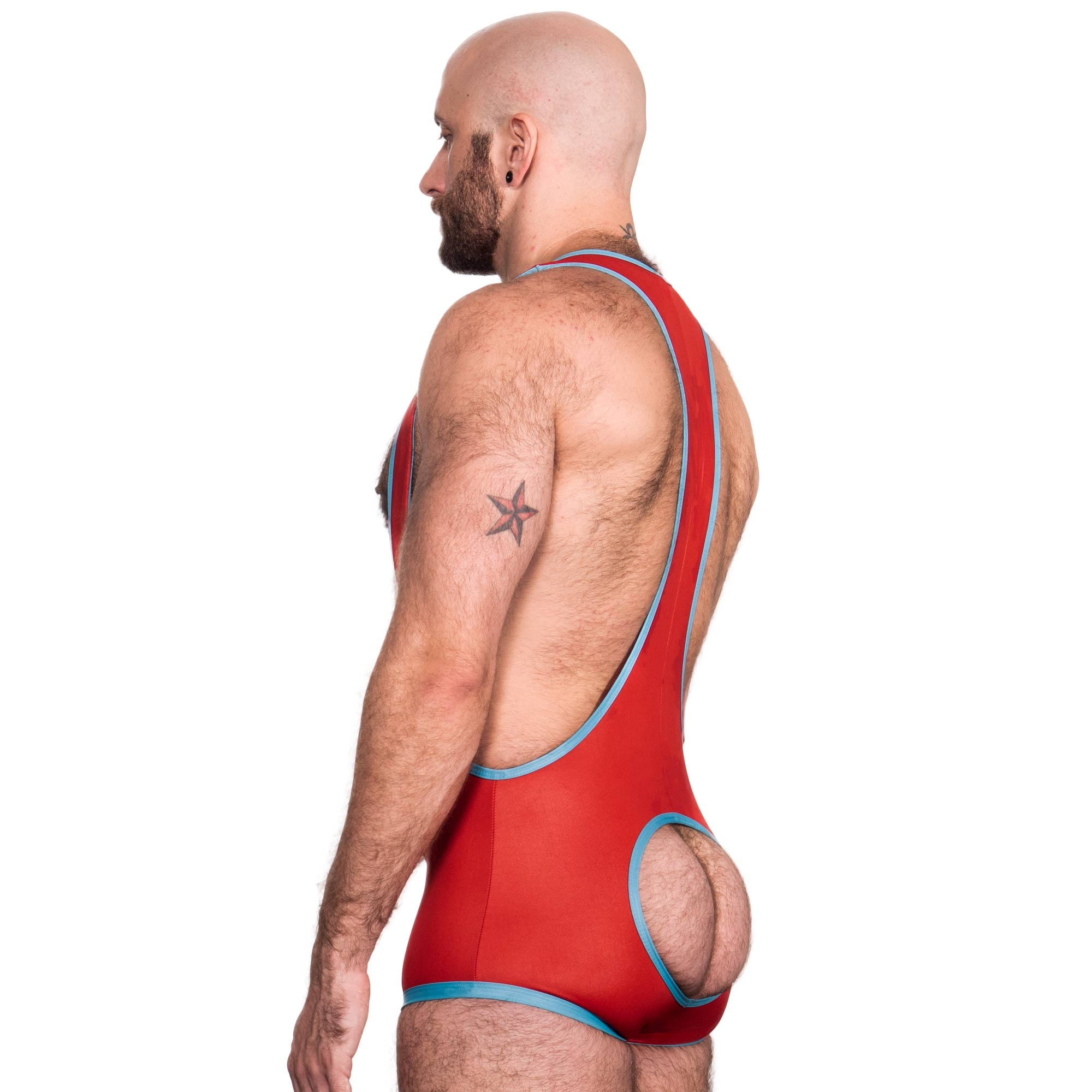 Impulse Singlet - Red/Blue - Assless