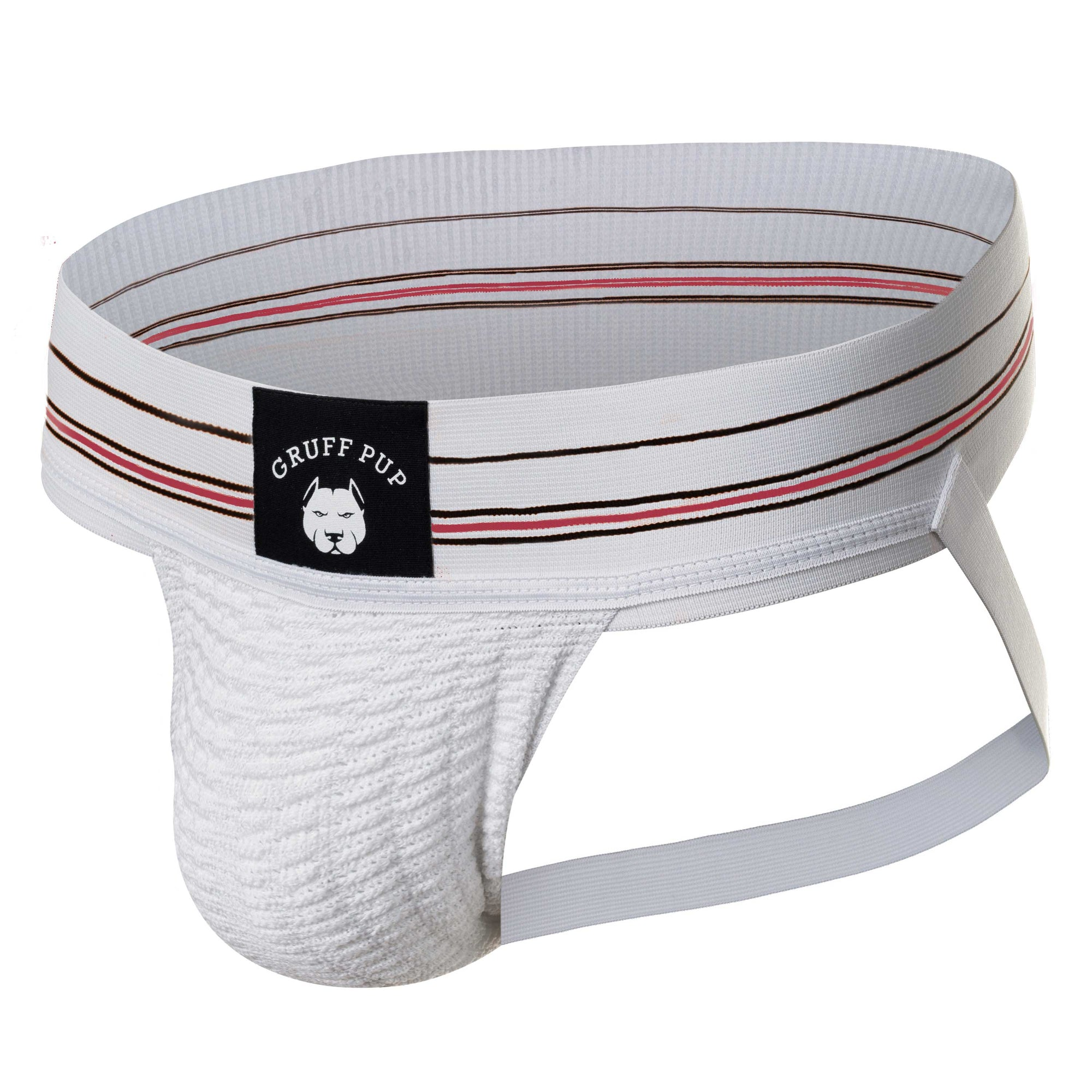 Gruff Pup Quarterback Jock - White Striped