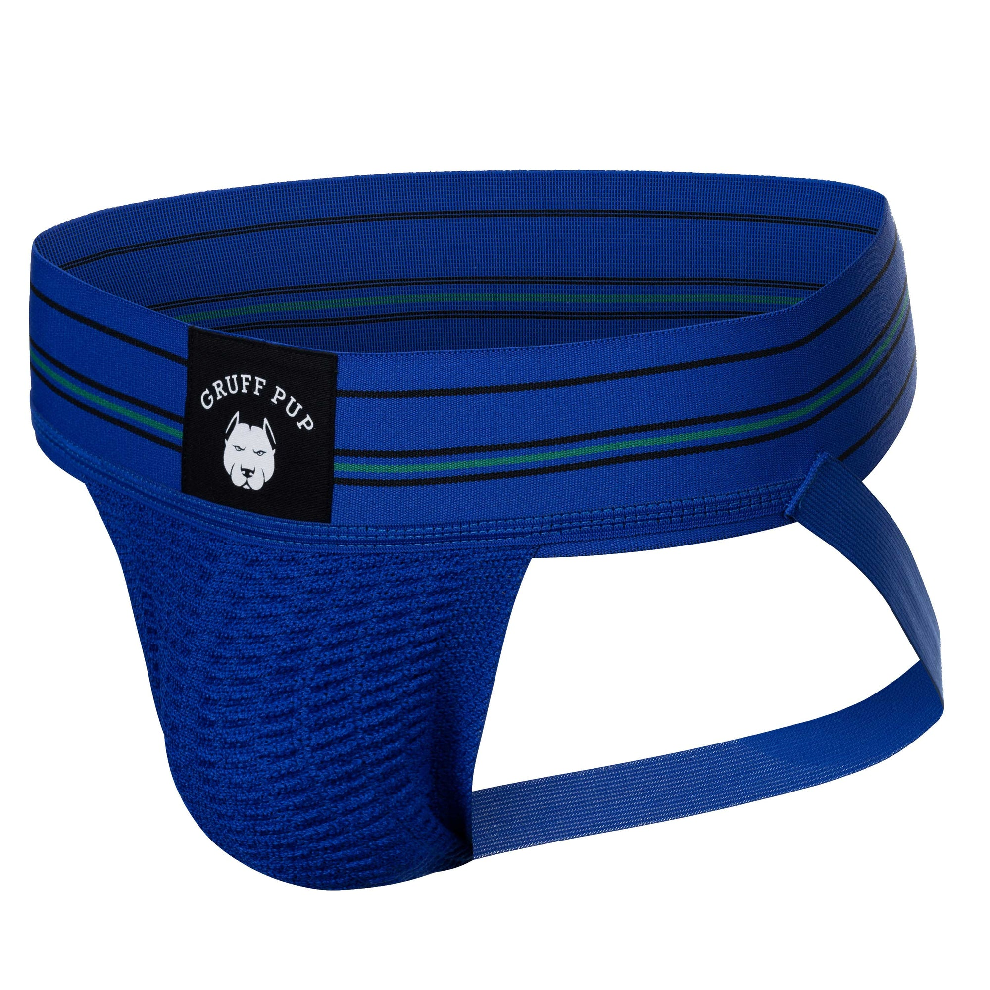 Gruff Pup Quarterback Jock - Blue Striped