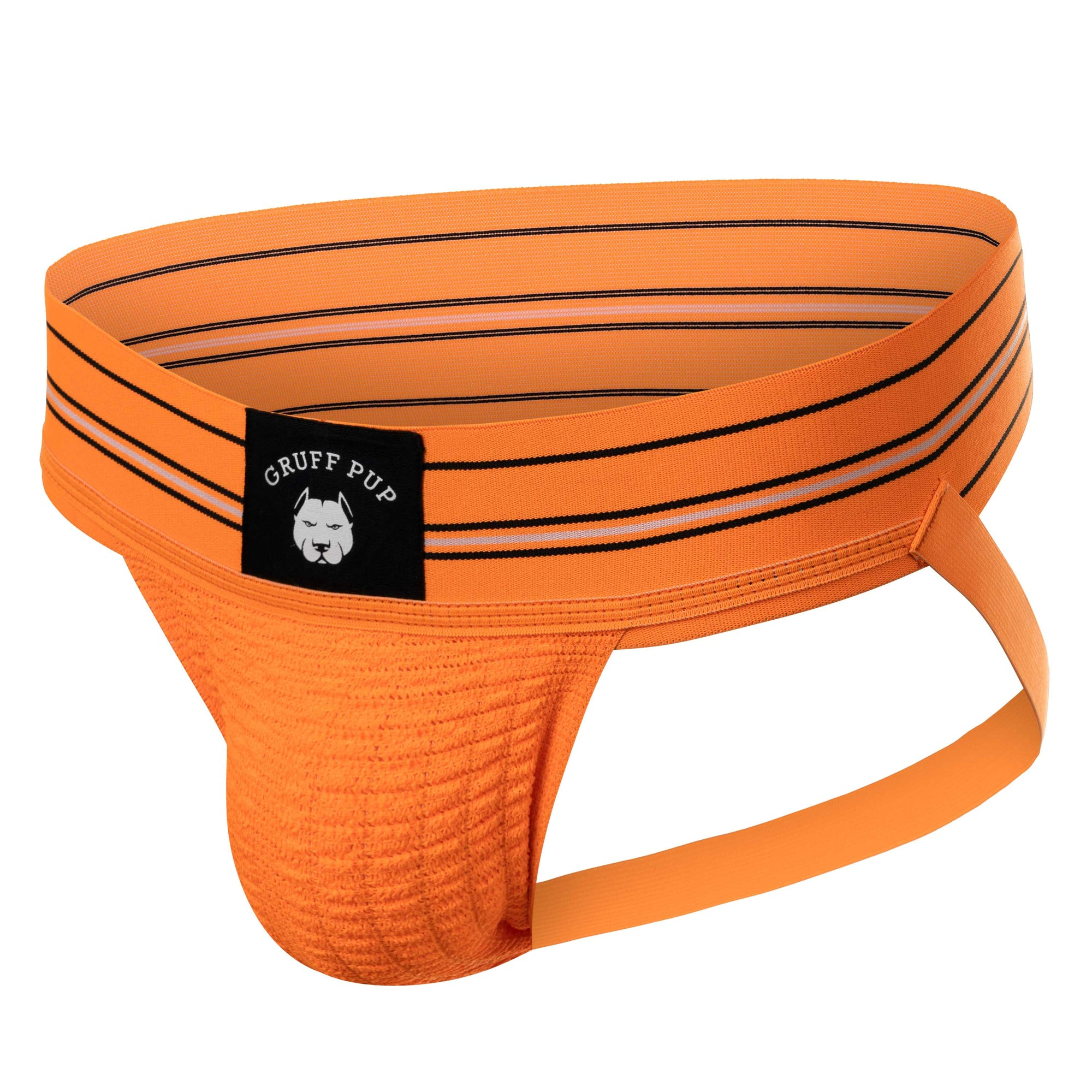 Gruff Pup Quarterback Jock - Orange - Striped