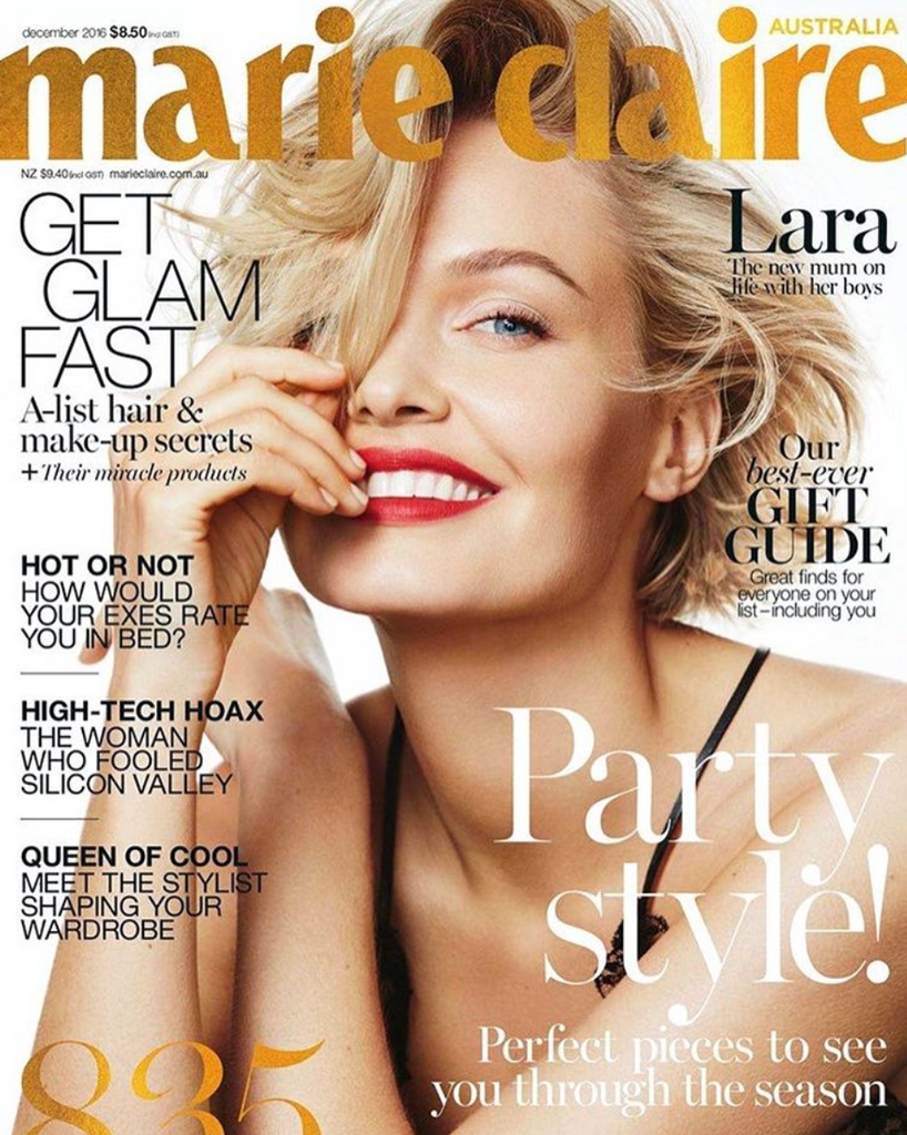 My new Marie Claire December cover for Dior Makeup.
