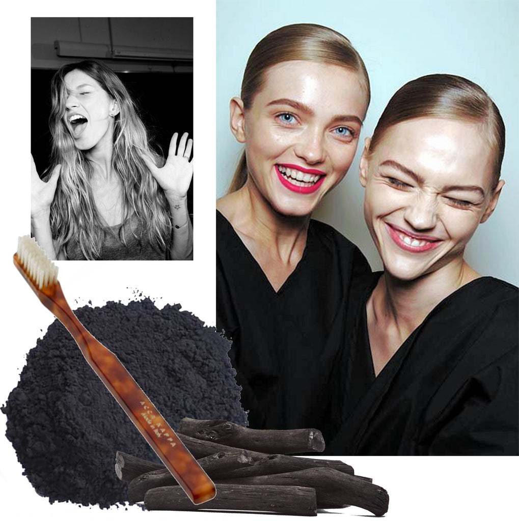 Activated charcoal makes for whiter teeth