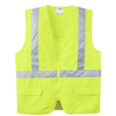 CornerStone ANSI 107 Class 2 Mesh Back Safety Vest CSV405