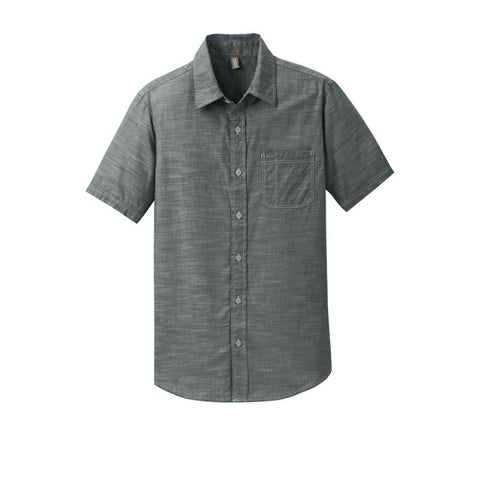 NEW District Made Mens Short Sleeve Washed Woven Shirt DM3810