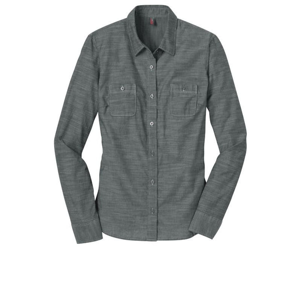 bbbc4bab District Made Ladies Long Sleeve Washed Woven Shirt DM4800 | Epic Headwear  Inc