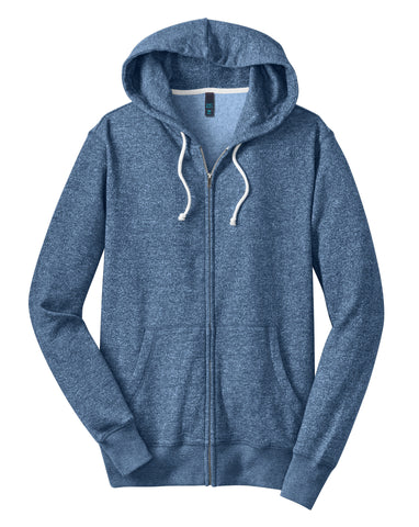 District Made Young Mens Marled Fleece Full-Zip Hoodie DT192