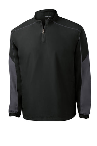 Sport-Tek Piped Colorblock 1/4 Zip Wind Shirt JST64