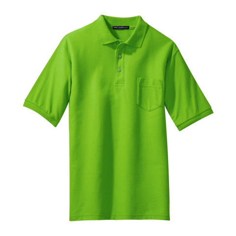 Port Authority Silk Touch Polo with Pocket  K500P