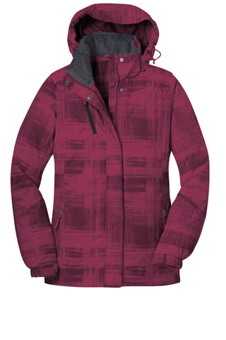 Port Authority Ladies Brushstroke Print Insulated Jacket L320